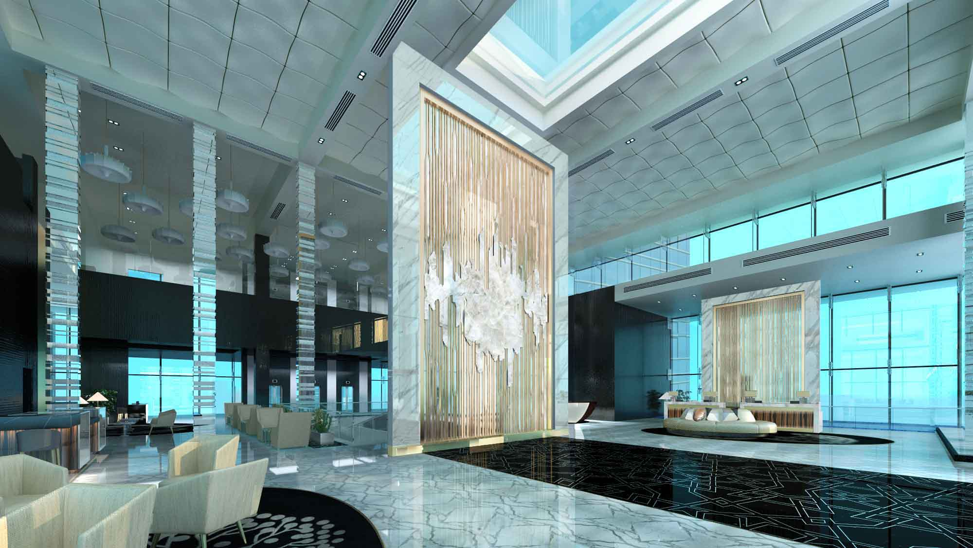 Fit out project fairmont hotel abu dhabi finasi llc for Hotel near dubai design district